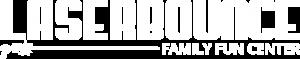 Laser Bounce Logo (White)